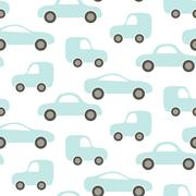Car cute baby vector seamless pattern Stock Illustration