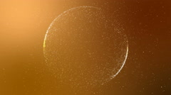 Abstract orange background intro with circular shape, UHD 4k 3840x2160 Stock Footage