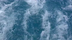 Swirling water from the speedboat prop. Stock Footage