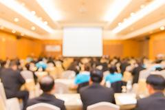 Blur of business Conference and Presentation in the conference hall - stock photo
