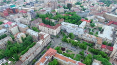 Aerial view. Kiev Central District Stock Footage