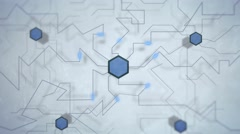 Animated network, communication visualized in highly detailed 4K Stock Footage