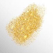 Gold sparkles on white. EPS 10 - stock illustration
