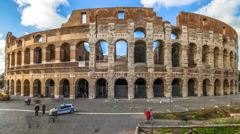 The Colosseum in Rome Stock Footage