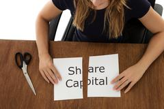cutting paper - stock photo