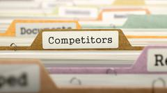 Competitors Concept on Folder Register Stock Illustration