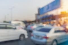 blurry of car in Toll collecting on the expressway in Bangkok Thailand - stock photo