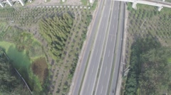 Aerial Drone Railway line Stock Footage