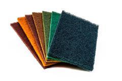 Scrub Pads Set of 7 Colours Stock Photos