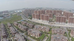 Aerial Drone Morden Chinese Buildings Stock Footage