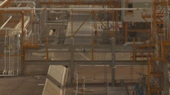 Structure Of Industrial LNG Plant Stock Footage