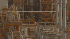 Gas Processing Plant With Pipe Line Stock Footage