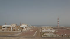 LNG Plant Near The Sea In Day Stock Footage