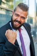 This promotion is mine! Positive emotions. - stock photo