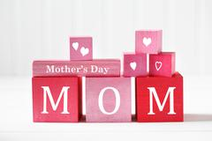 Mothers Day message with wooden blocks Stock Photos