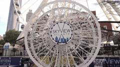 Atlanta Skyview Ferris Wheel in Downtown Stock Footage
