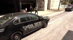 Alpharetta Police Car in Atlanta Stock Footage