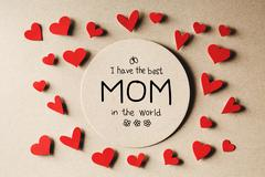 I have the best Mom in the world message Stock Photos