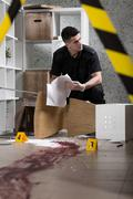 Trying to discover what happened here... - stock photo