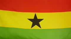 Ghana Flag real fabric Close up 4K Stock Footage
