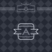 Modern insignia vintage label Stock Illustration