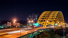 Cincinnati, Ohio Big Mac Bridge Timelapse Stock Footage