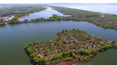 Aerial Photo of the landscape from a bird's flight. Stock Footage