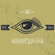 all seeing eye of horus - stock illustration