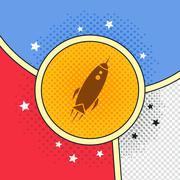 Space shuttle rocket Stock Illustration