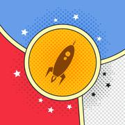 Space shuttle rocket Stock Illustration