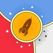 space shuttle rocket - stock illustration