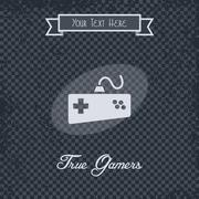 Video game console theme Stock Illustration