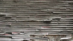 Old Barn Clapboards Background Texture Stock Footage