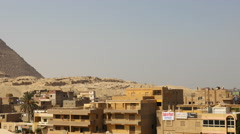 Pan of Giza and the Great Pyramid of Giza - Egypt - stock footage