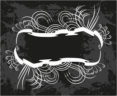 Decorative frame with pattern - stock illustration