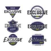 exclusive quality badge - stock illustration