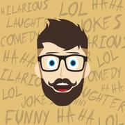 Funny laughing guy Piirros