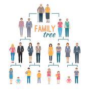 Genealogy Tree Illustration - stock illustration