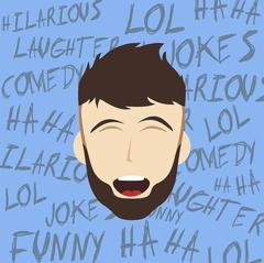 Funny laughing guy Stock Illustration