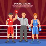 Boxing Champ Composition - stock illustration
