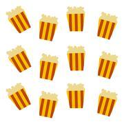 pop corn pattern - stock illustration