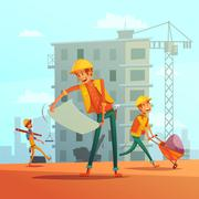 Building And Construction  Industry Illustration Piirros