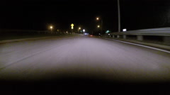 GoPro attached to bumper of car at night - 22 Stock Footage