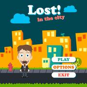 Game asset funny guy cartoon Stock Illustration