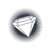 Diamond gemstone Stock Illustration