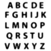 Black Alphabet Isolated on White Background. - stock illustration
