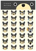 French bulldog emoji icons Piirros