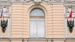 Details of fronton of Saint-Petersburg capella Stock Footage