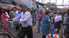 Indian flower market Stock Footage