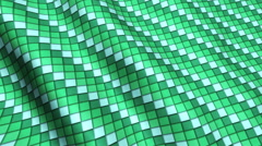 Green Mint Squares Fabric Cloth Material Texture Seamless Looped Background Stock Footage